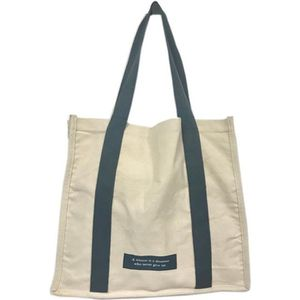 ad4f930747 SAC SHOPPING Tote bag BEIGE & GRIS Sac cabas en toile coton nat