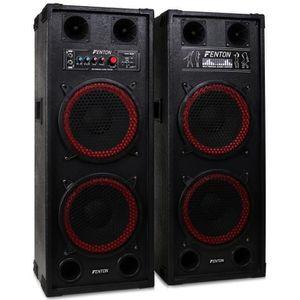 ENCEINTE ET RETOUR Skytec SPB-210 PA Pack Enceintes Amplifiées • 1200