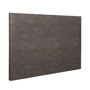 TÊTE DE LIT Tête de lit déco simili cuir chocolat 160 - Someo