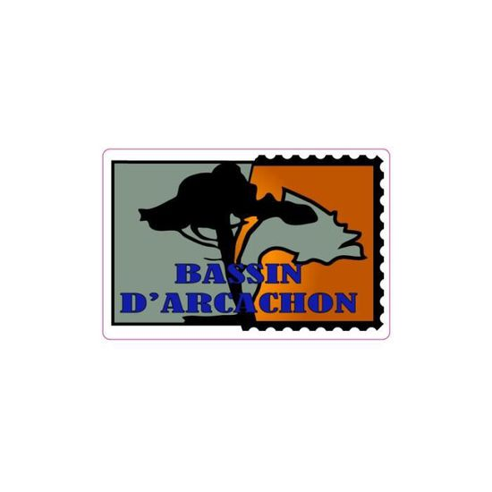 Autocollant Bassin D Arcachon Timbre Stickers Adhesif Logo 1