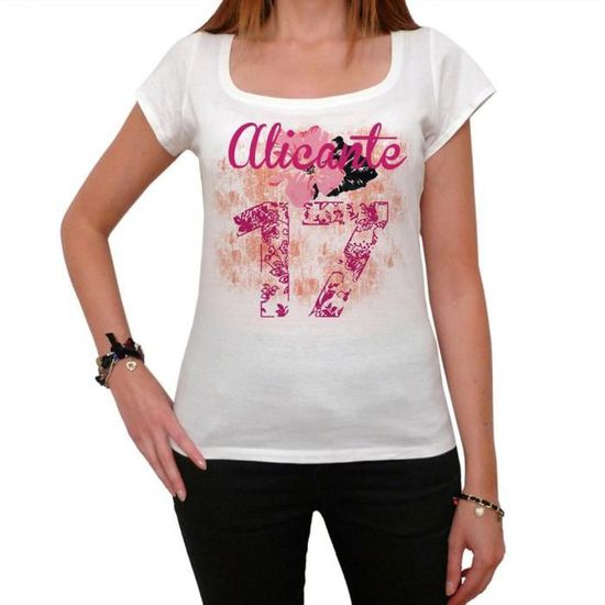 17 Alicante City Number Femme Tshirt
