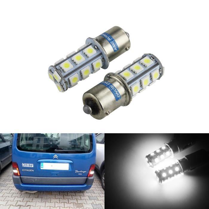 2x SMD 18 LED Ampoule BA15S 1156 382 P21W BLANC VOITURE STOP Ampoules Feux Jour Recul