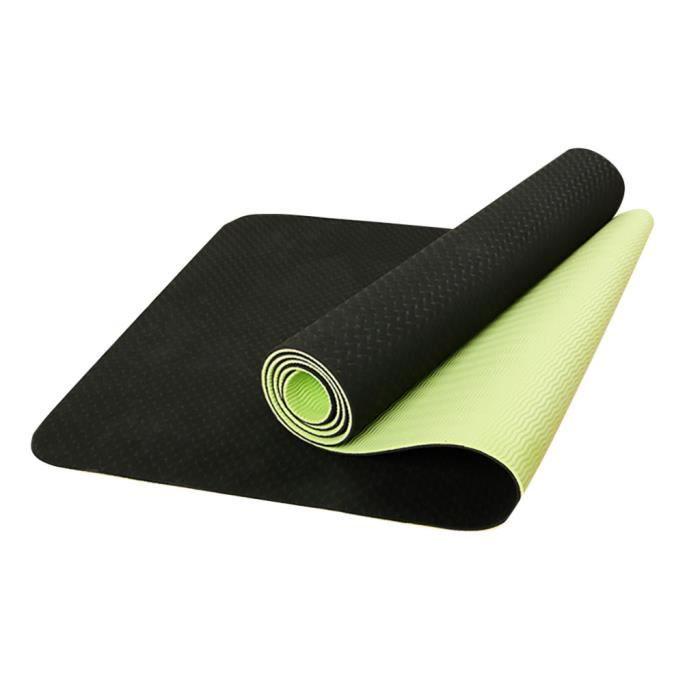 Tapis de yoga avec sac en maille 6 mm d'épaisseur antidérapant Gym exercice Fitness Pilates @87
