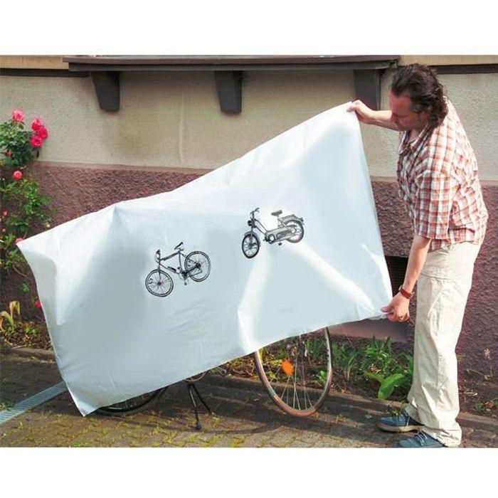 Housse bâche de protection hydrofuge anti-UV pour vélo et cyclomoteur - 220 x 100 cm