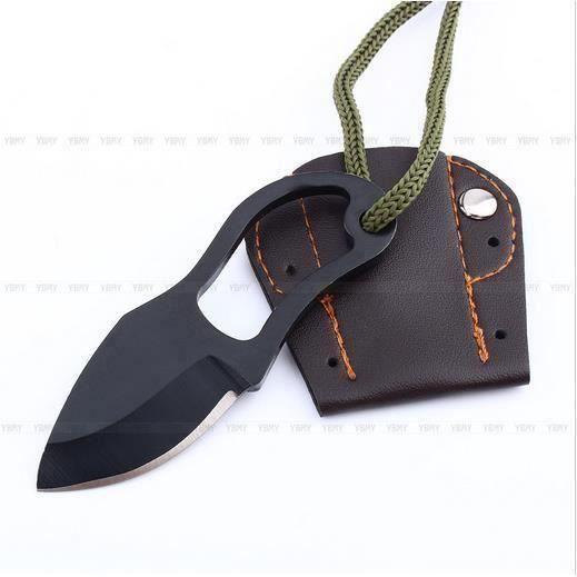 Mini EDC Couteau De Poche Multifonctions Outil de Survie Self Defense Avec Gaine Aa48793