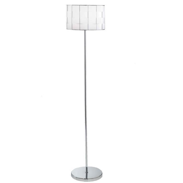 Lampadaire abat-jour tressé luminaire E27 interrupteur à pied salle de séjour