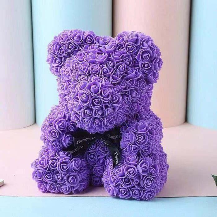 KH Rose Flower Saint Valentin Ours Des Rose pour Cadeau d'anniversaire Cadeau de la Saint-Valentin Décoration de Mariage