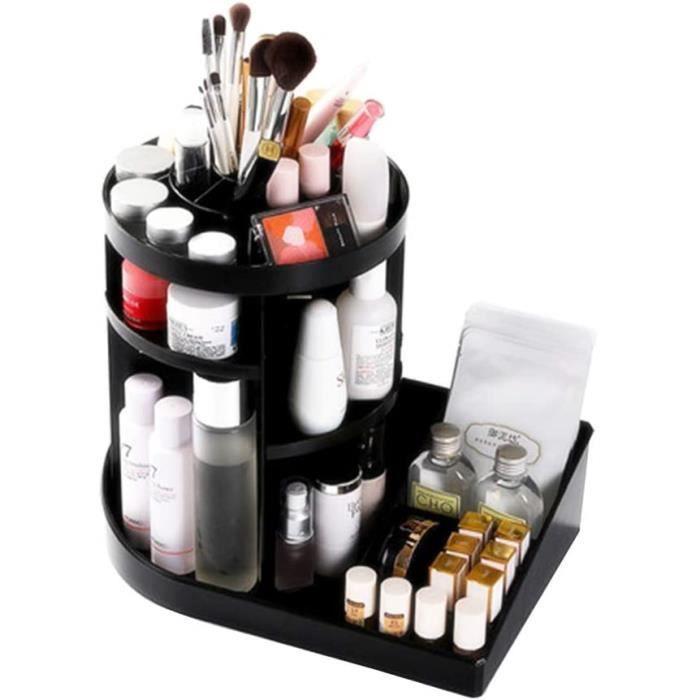 Beau Organisateur De Maquillage Tournant À 360°, Étagères Réglables, Rangement Maquillage Rotatif, Présentoir Maquillage, Rangement,