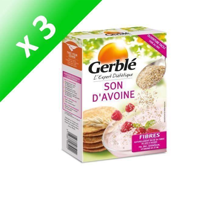 [LOT DE 3] GERBLE Son d'avoine, riche en fibres et magnésium - 400 g