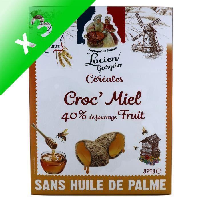 [LOT DE 3] LUCIEN GEORGELIN Céréales Croc' Miel - 375 g