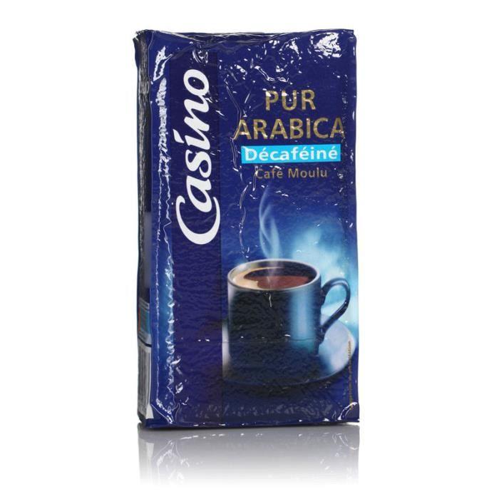 Café moulu décaféiné pur arabica 250 g