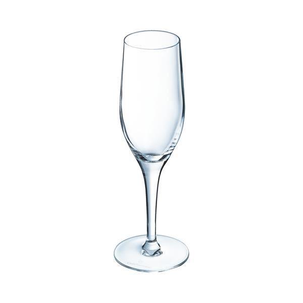 6 flûtes à champagne 19,5cl Sensation Exalt - Chef&Sommelier - Cristallin design classique 30% plus résistant