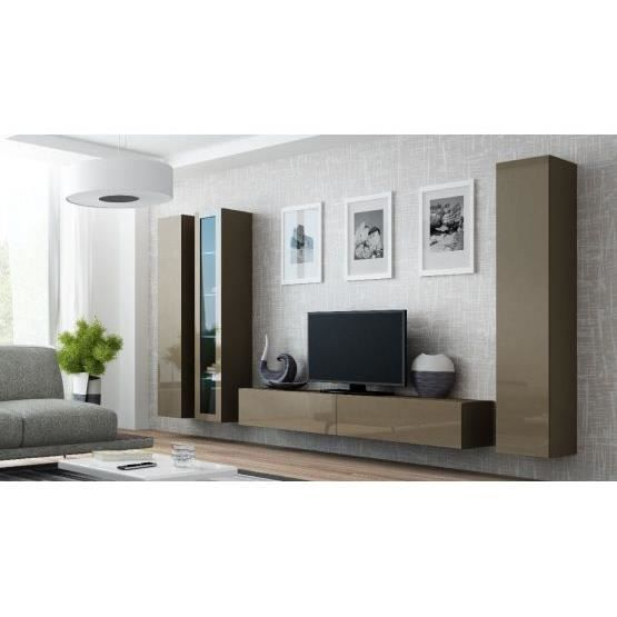 Ensemble Meuble tv design MIKO Taupe