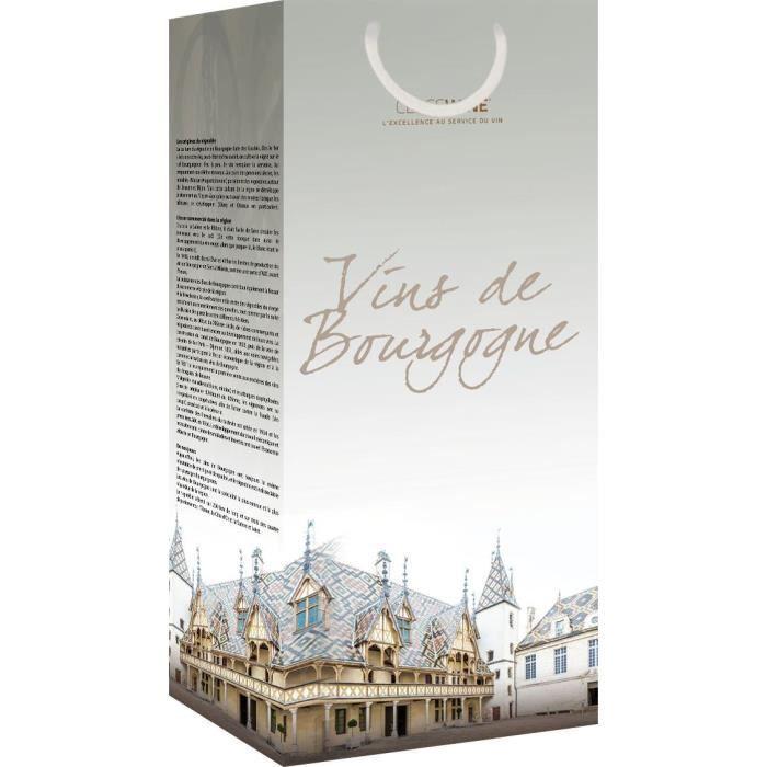 CLASSWINE Pochette pour 2 bouteilles vin de Bourgogne Hospices de Beaune