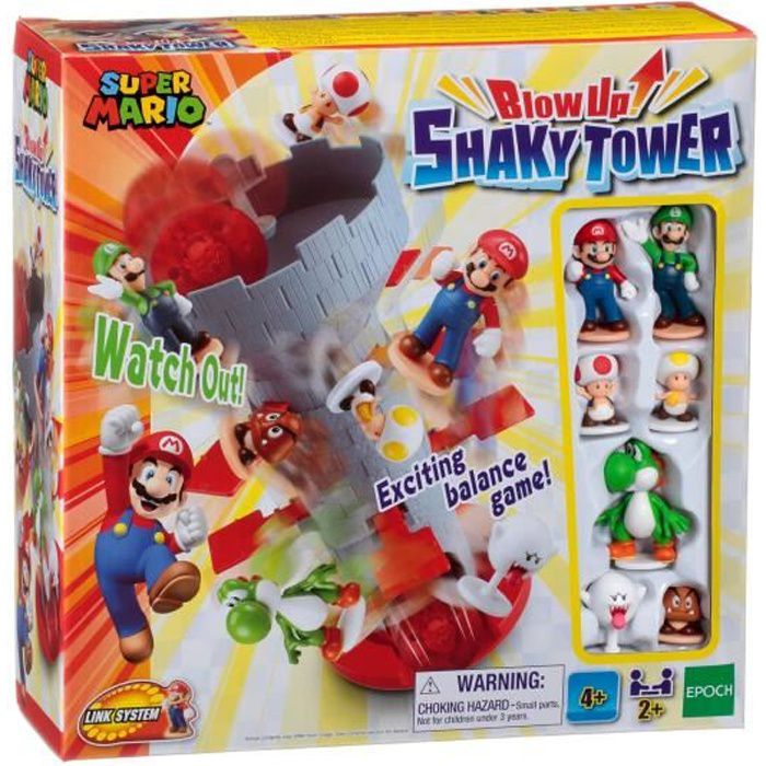 SUPER MARIO Blow Up! Shaky tower - Jeu de société - EPOCH - 7356