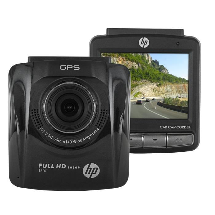 HP F-500 NOIRE CAMERA EMBARQUEE POUR VOITURE