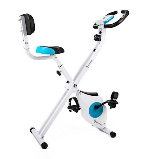 Klarfit Azura Vélo d'appartement confort avec dossier, pliable, 100 kg