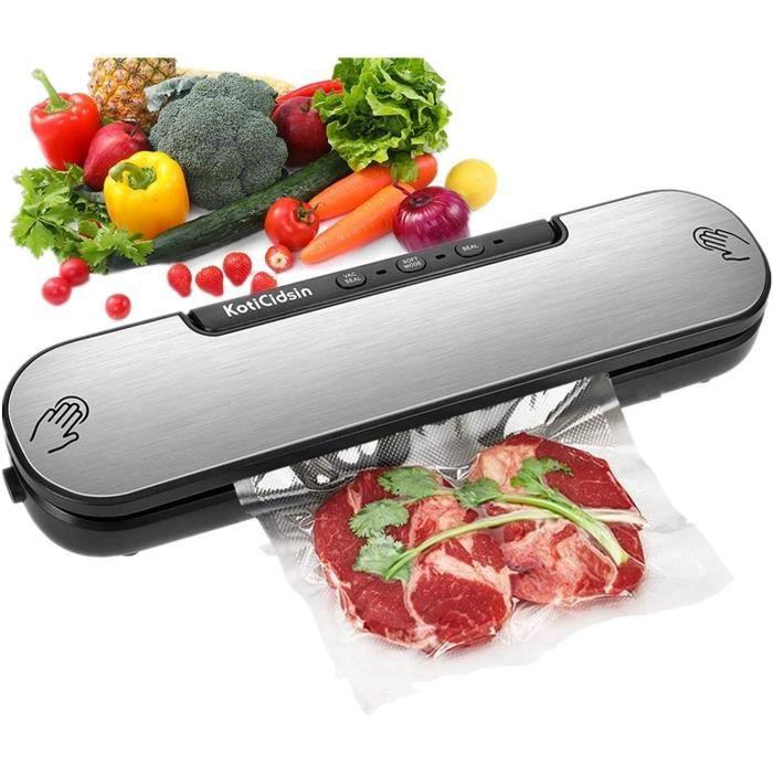 KotiCidsin Machine Sous Vide, Appareil de Mise Sous Vide Alimentaire Automatique avec 10 Sacs Sans BPA pour Aliments