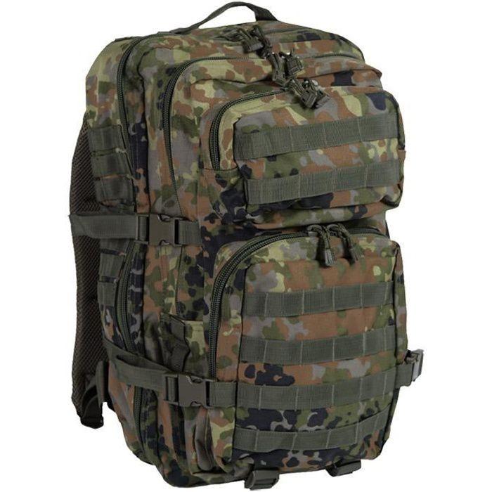 Mil-Tec Molle US Assault Pack Grand Flecktarn - Homme