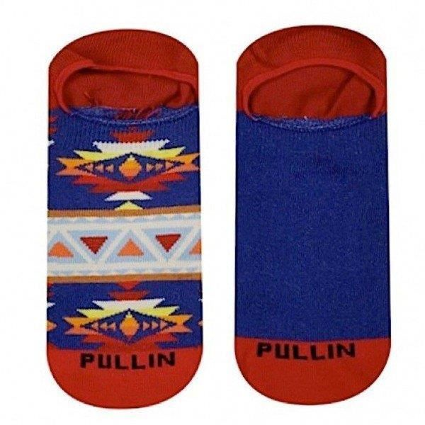 PULL IN Lot de 2 paires de Socquettes Adulte Coton INDIAN Bleu Rouge