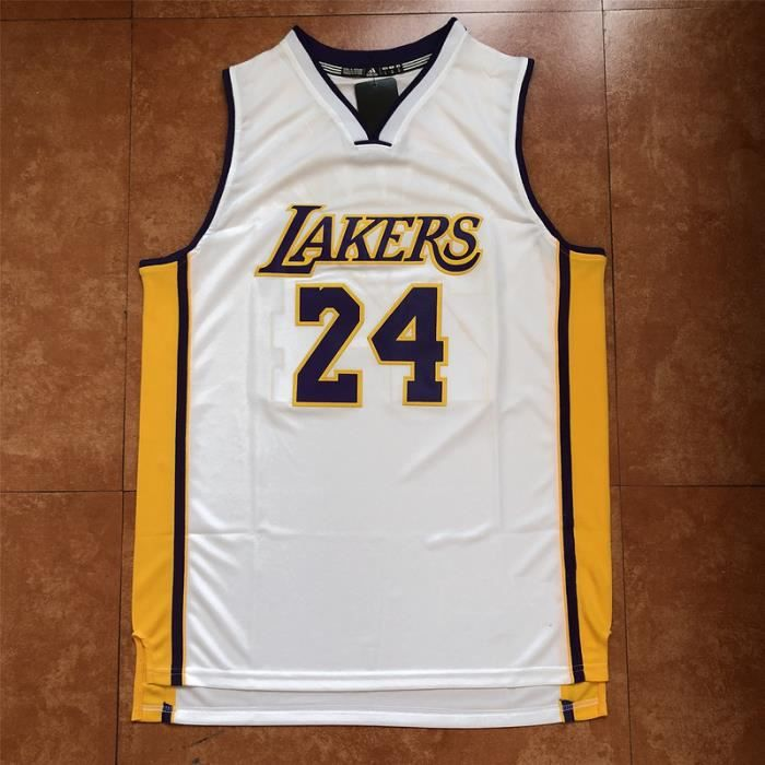 Maillot de Basket Ball Los Angeles Lakers #24 Kobe Bryant Homme Basketball Pas Cher Blanc