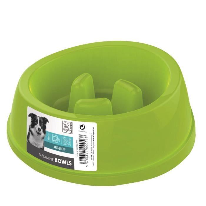 MPETS Gamelle en plastique simple MELAMINE BOWL - Pour chien - 900ml - Coloris divers