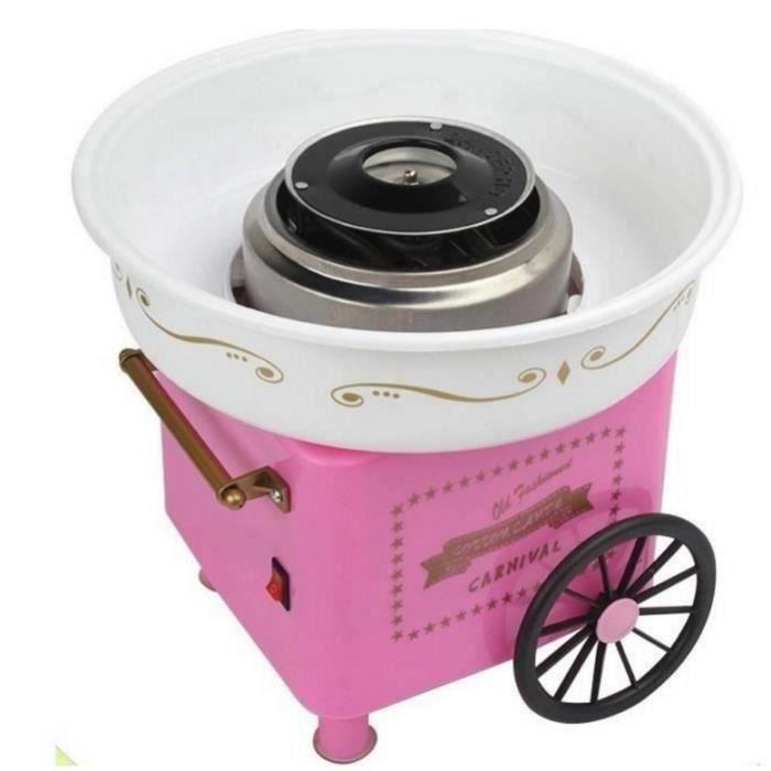 Machine à barbe à papa rétro sucre fête d'anniversaire chariot chariot cône fabricant hayon H