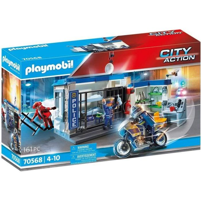 PLAYMOBIL - 70568 - Police Poste de police et cambrioleur
