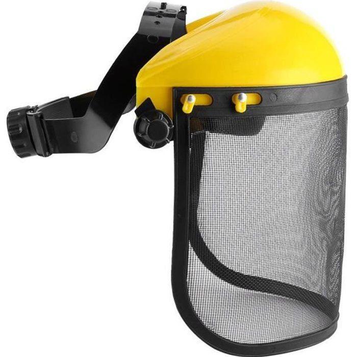 Casque de Protection Visière Sécurité Grillagée de Forestier Chapeau Masque pour Tronçonneuse Jardinage Coupe Débroussailleuse