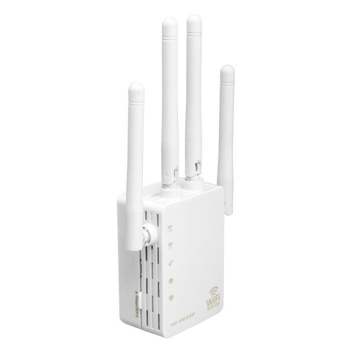 TD® Amplificateur de répéteur de signal WiFi sans fil à double bande de 2.4G 5G 1200mbps / routeur AP haute puissance