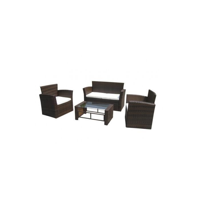 salon de jardin r sine tress e marron chocolat achat vente salon de jardin salon de jardin. Black Bedroom Furniture Sets. Home Design Ideas