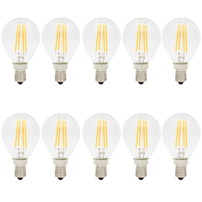 10x e14 ampoule edison vintage 4w lumiere filament led g45 ampoule retro blanc chaud 2700k led. Black Bedroom Furniture Sets. Home Design Ideas