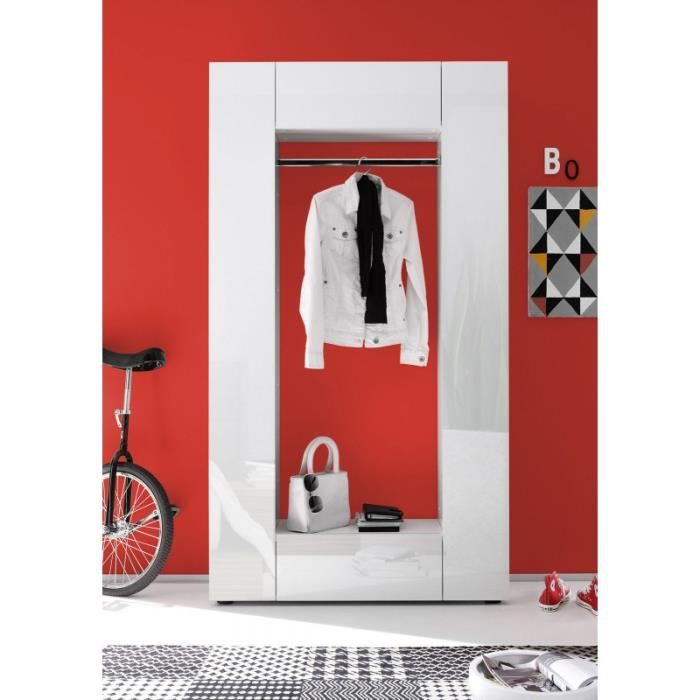 Meuble hall d 39 entr e design blanc achat vente meuble tag re meuble hall d 39 entr e design - Meuble hall d entree ...