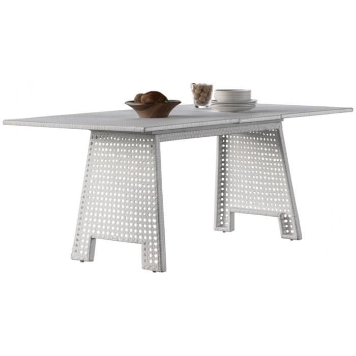 Table Extensible R Sine Tress E Blanche Pieds Cann S