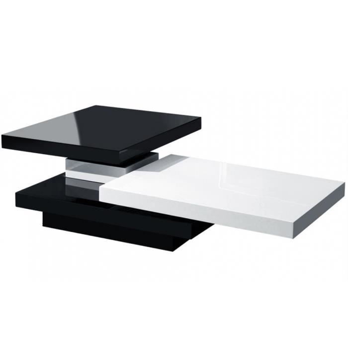 table basse module noir et blanc achat vente table basse table basse module noir blanc. Black Bedroom Furniture Sets. Home Design Ideas