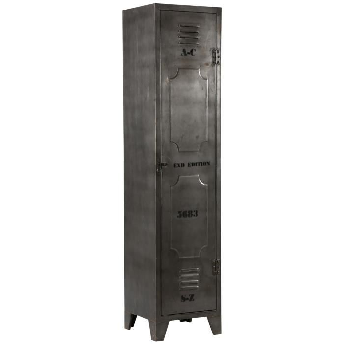 armoire 1 porte en acier atelier metal achat vente. Black Bedroom Furniture Sets. Home Design Ideas