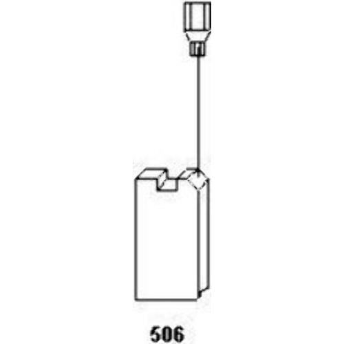 5x8,5x12,5mm Balais de Charbon pour Festool Polisseuse BF 1 E