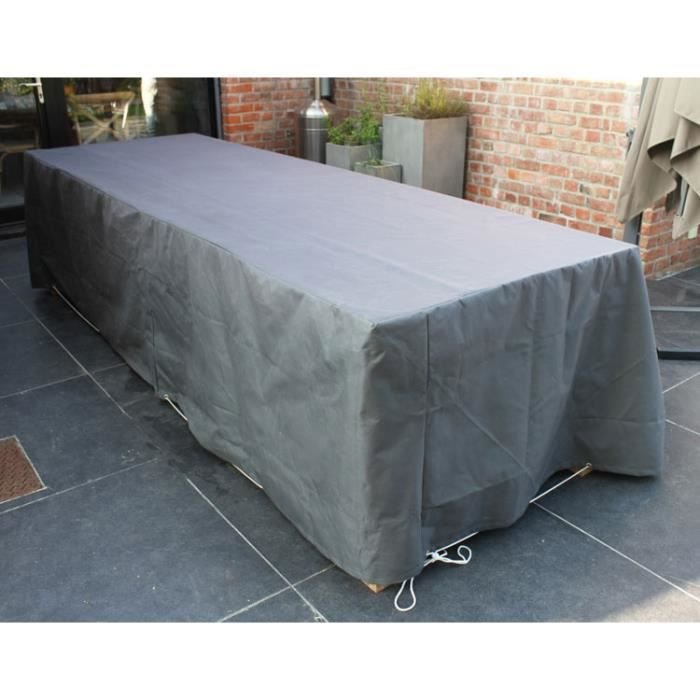 housse de protection pour table de jardin gris achat. Black Bedroom Furniture Sets. Home Design Ideas