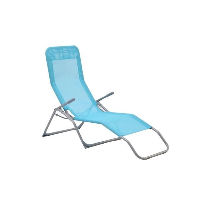 chaise longue siesta bleu lagon hesperide achat vente fauteuil jardin chaise longue siesta. Black Bedroom Furniture Sets. Home Design Ideas