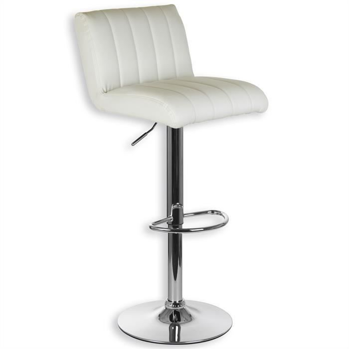 1x tabouret chaise fauteuil de bar tobago blanc achat. Black Bedroom Furniture Sets. Home Design Ideas