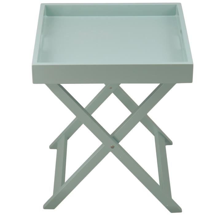 PLIANTE Vert TABLE PLATEAU Colorama amande Achat FKc3Tl1Ju5