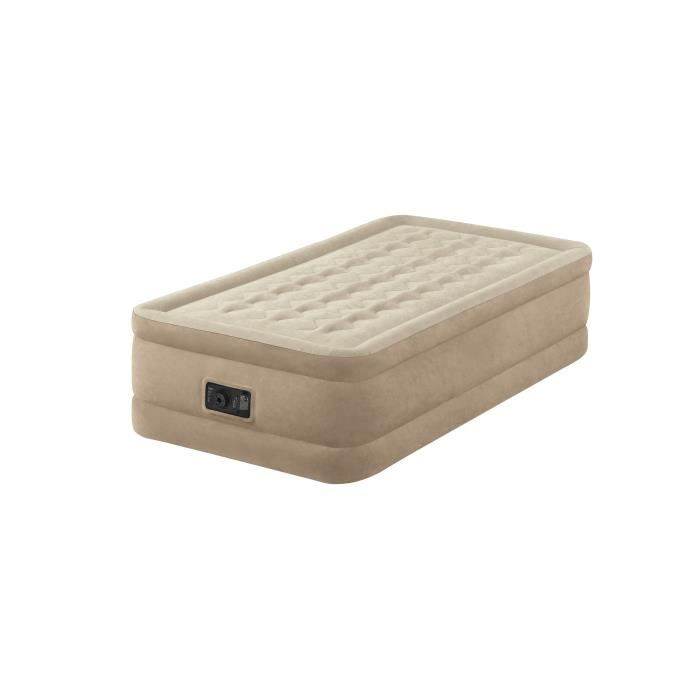 Intex Matelas Ultra Plush Fiber Tech 99x191 Gonflable Fermeté