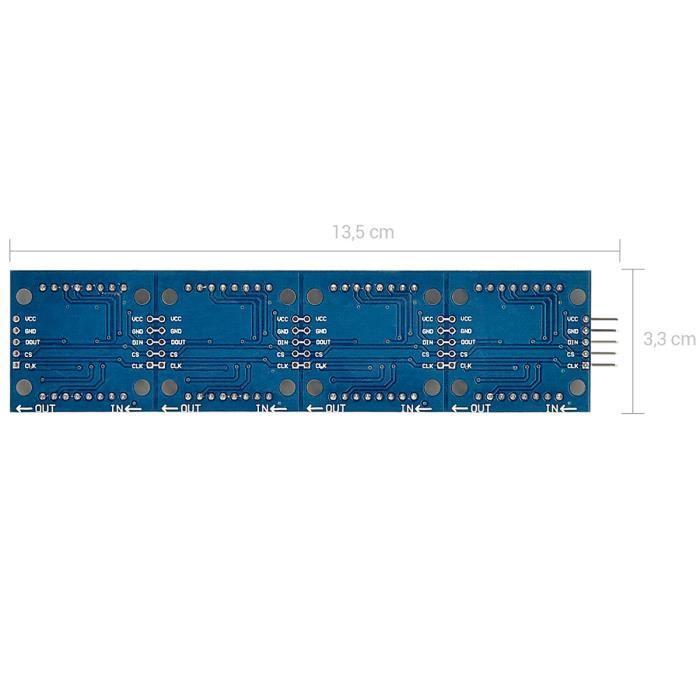 4x Module De Commande Affichage 8 Chiffre MAX7219 DEL Matricielle pr Arduino