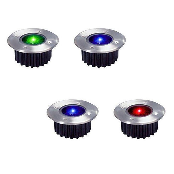 8 pack Classe /énerg/étique A+++ Lampe Solaire Exterieur 8 LEDs Blanc Spot Lumi/ère Projecteur avec Panneau Solaire pour Chemin Terrace Place Lumi/ère Solaire Ext/érieur Decoration Jardin Eclairage
