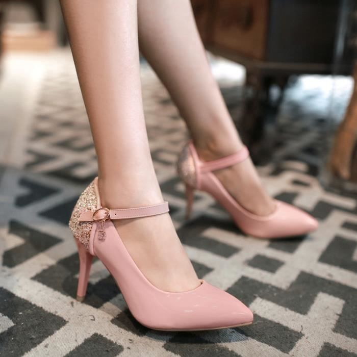 Band talons Pa Heel Pure Color hauts Women Thin aqwvgqYxr