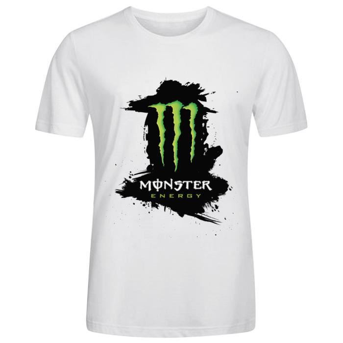 Tee-shirt Homme monster energy Manches courtes