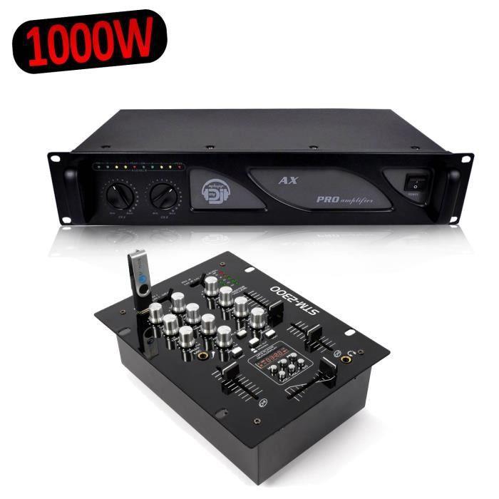 TABLE DE MIXAGE SkyTec STM-2300 Table de mixage 2 canaux USB-MP3 +
