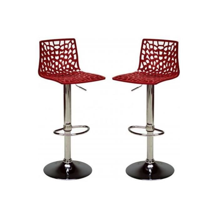 Lot de 2 chaises de bar ajustables smart achat vente for Achat chaise de bar