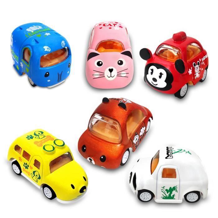 Voitures De Dessin Animé Jouets éducatifs Bébé Véhicule à Friction Miniature Mignon Camion Voiture En Alliage D Aluminium Cadeau