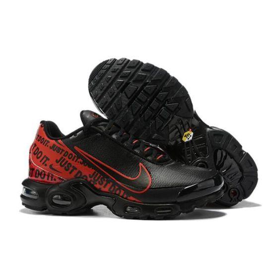 Nike Air Max Plus Tn Chaussure pour Homme NOIR ROUGE - Cdiscount ...
